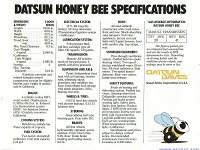 honey bee spec sheet