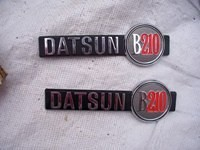 Datsun B210 Name Badges