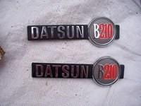 Datsun B210 Name Badges